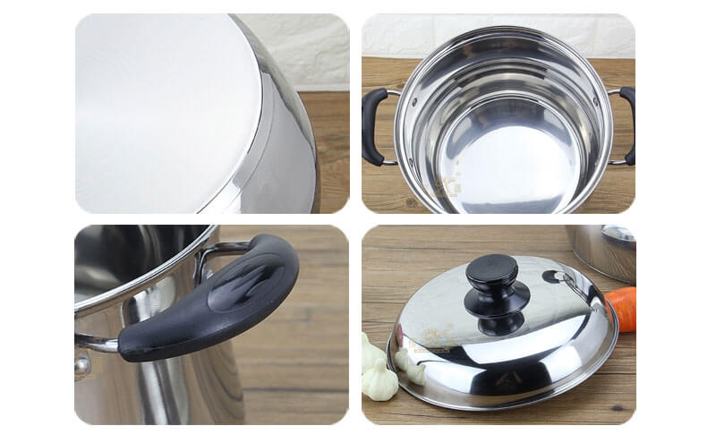 stainless cooking pot factory kitchen stainless steel set wholesale