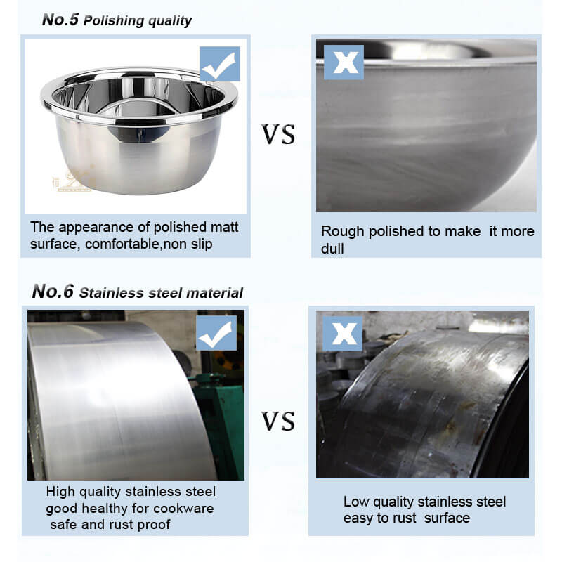 stainless steel bowl export