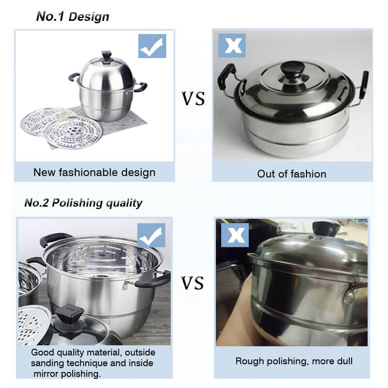 stainless steel pot factory best skillet pan price