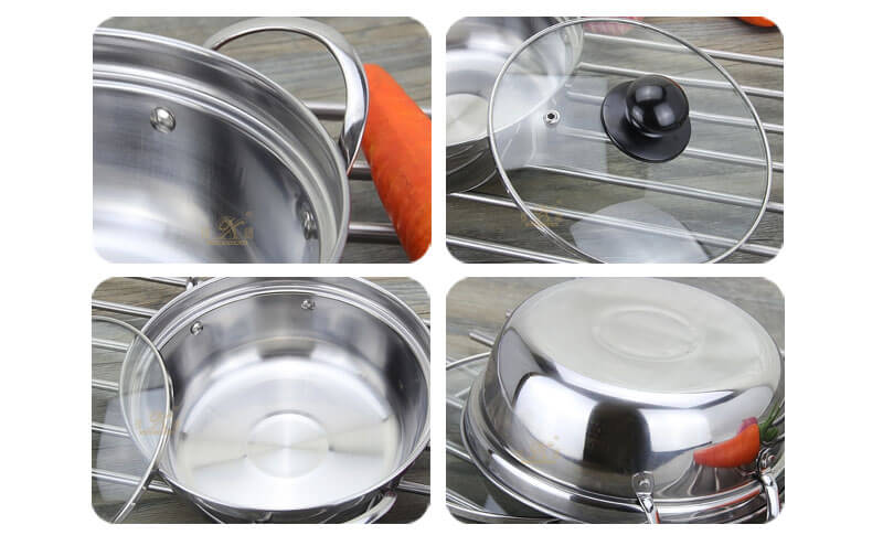 steel pan factory stainless cookware wholesale