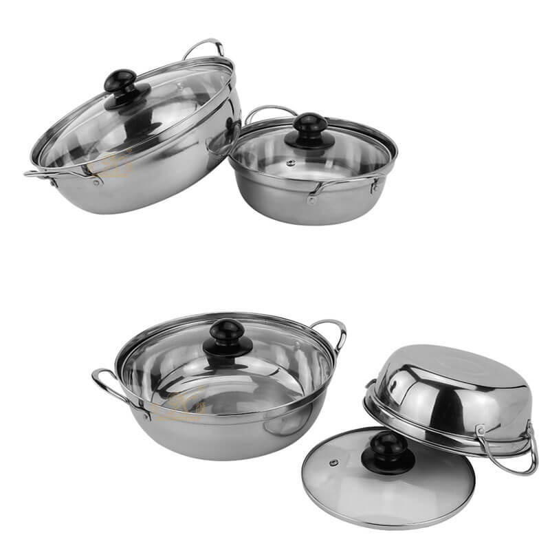 steel pan factory stainless cookware supplier