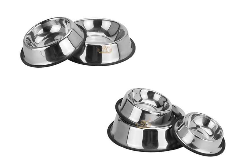 stainless steel pet   ODM dog food bowl manufacturer