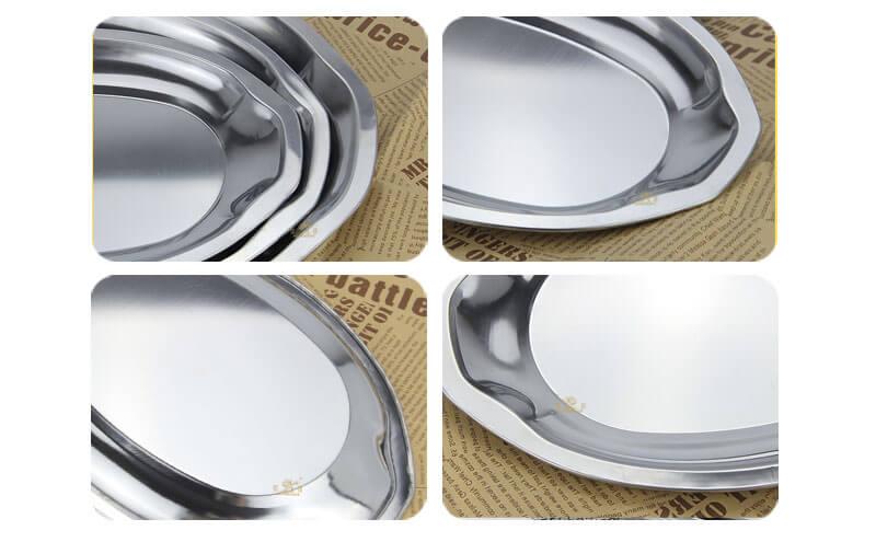 oval plate OEM fish plate wholesale