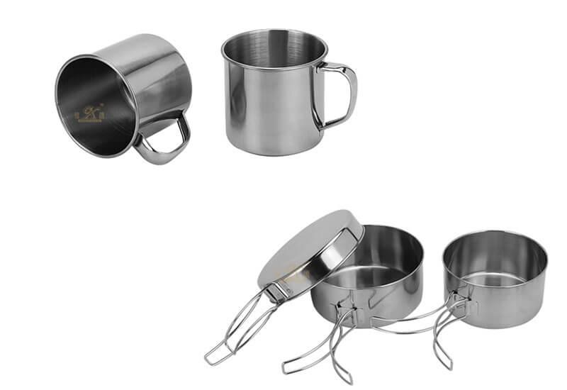 tea mug lunch OEM 8pcs cooking pot set manufacturer