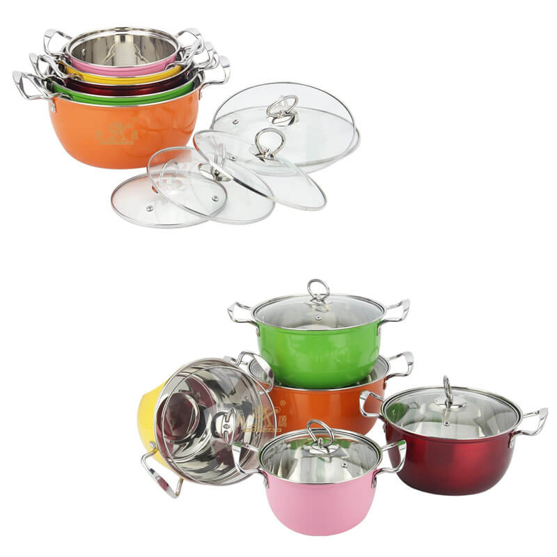 green pots and pans factory good pots and pans set supplier