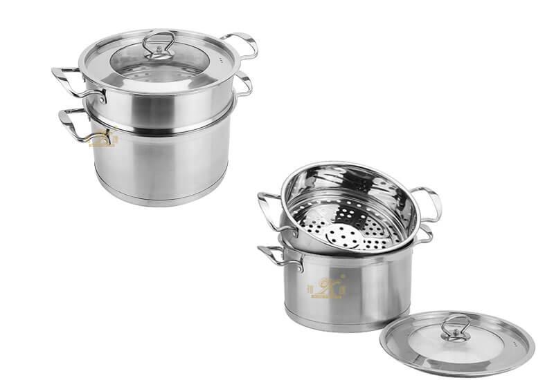 cookware 2 tier steamer factory lobster pot manufacturer