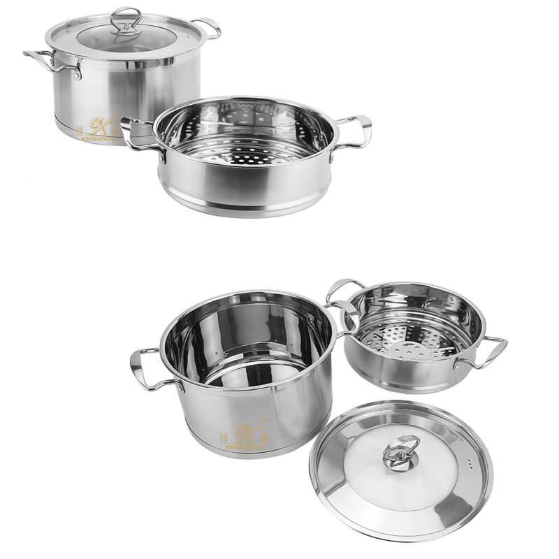cookware 2 tier steamer factory lobster pot supplier