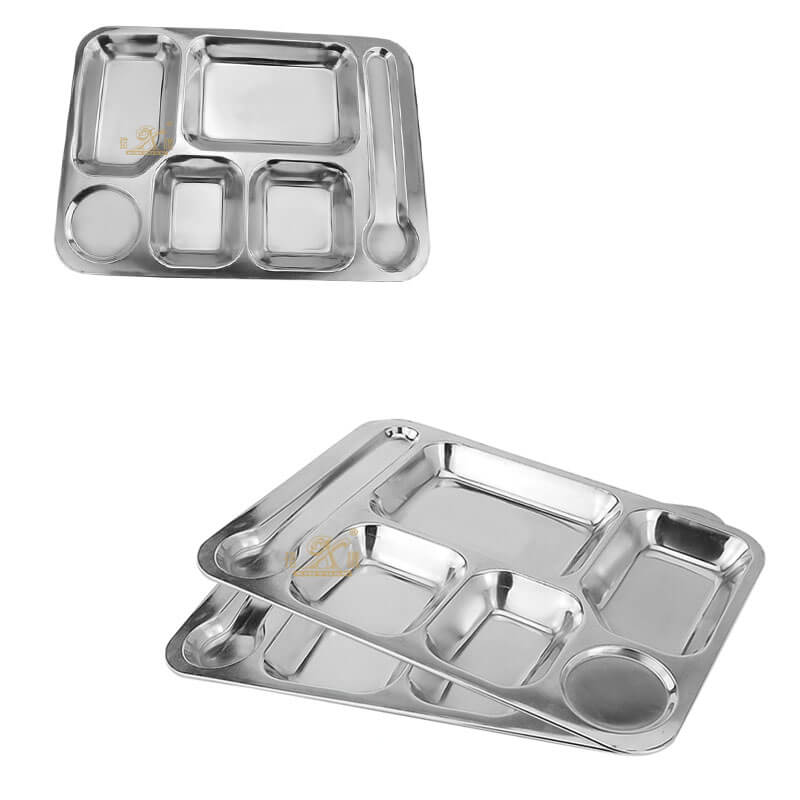large metal tray OEM food tray supplier