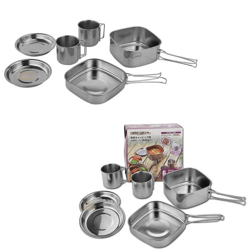box cover ODM 6pcs cooking pot supplier