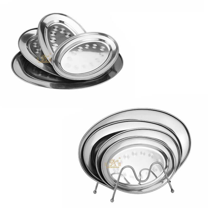 oval tray wholesale stainless steel serving trays supplier