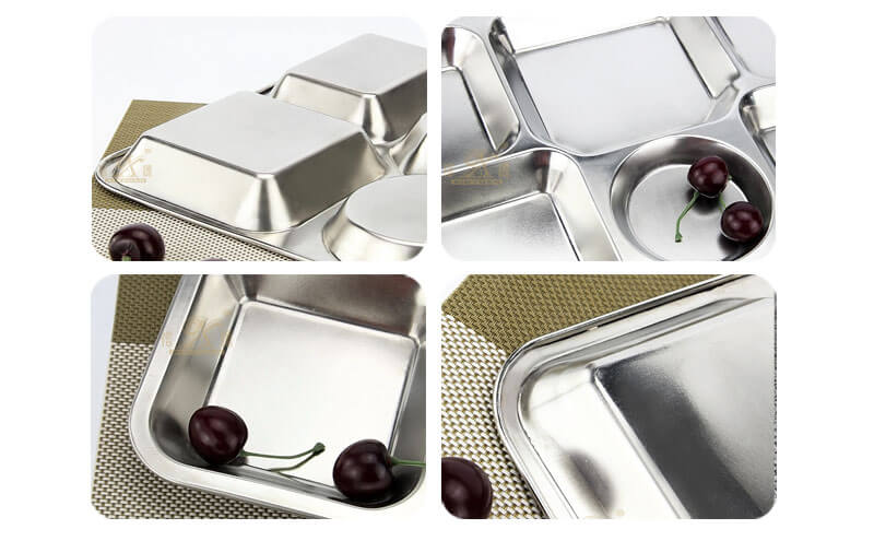 white serving tray OEM stainless steel plate wholesale