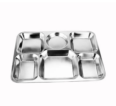 white serving tray OEM stainless steel platefactory