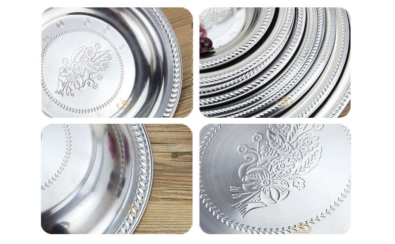 round serving tray wholesale