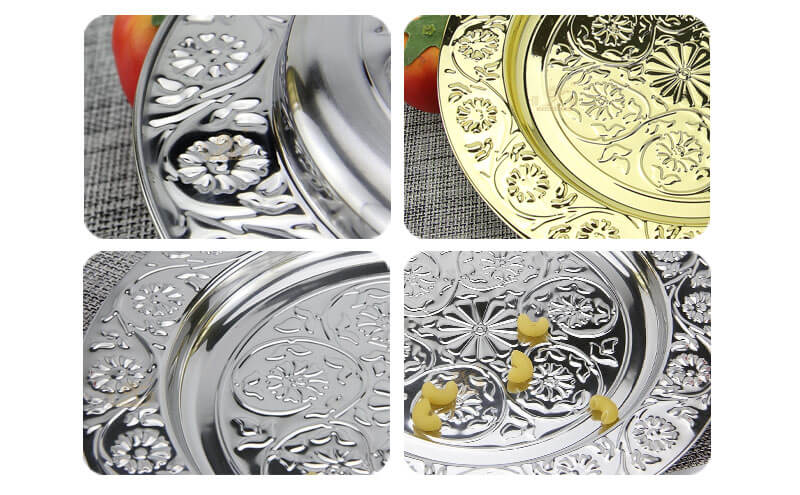 golden tray OEM Stainless Plates wholesale