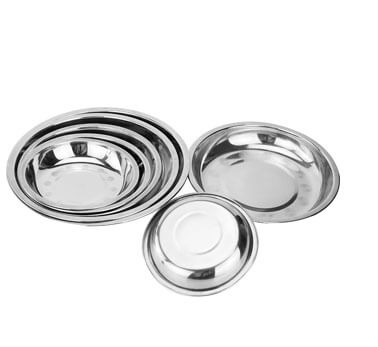 stainless steel round plate wholesale dinner plate dish factory