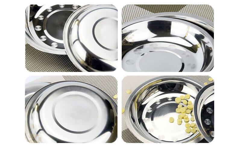 stainless steel round plate wholesale dinner plate dish wholesale