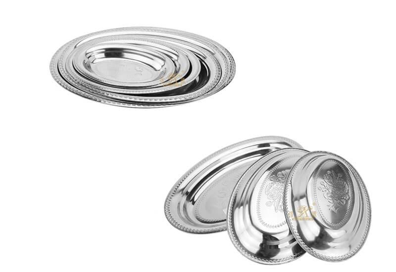 banquet serving tray OEM steel food plate manufacturer