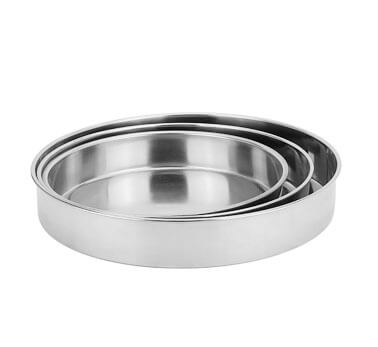 metal plates OEM round serving tray factory