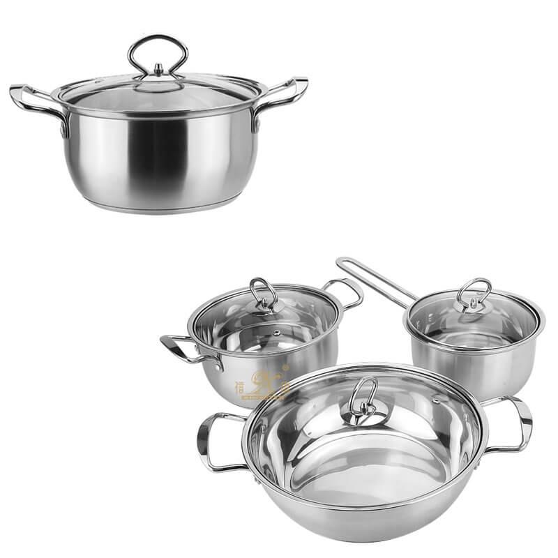 soup pot factory cheap pots and pans supplier
