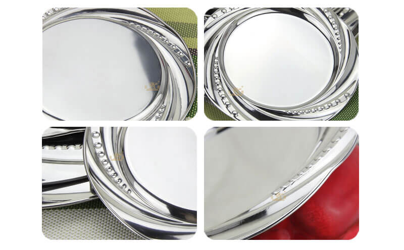 silver tray OEM charger plates wholesale
