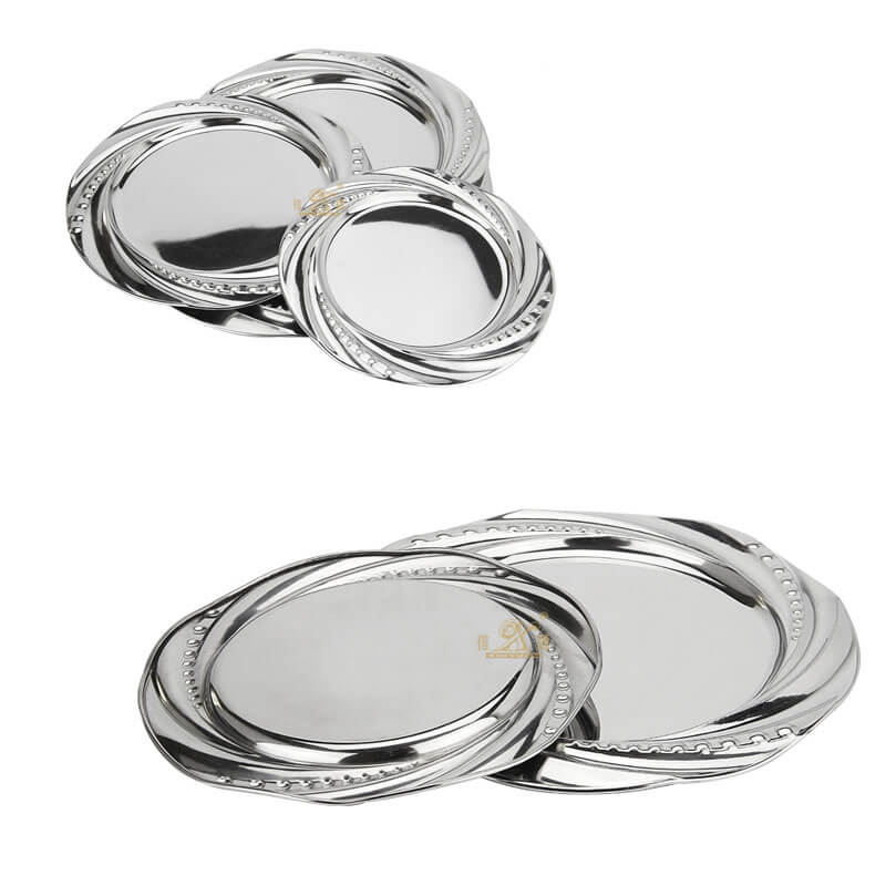 silver tray OEM charger plates supplier