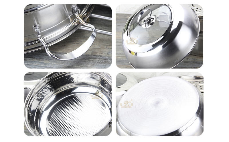 surgical steel cookware factory stainless saucepan wholesale