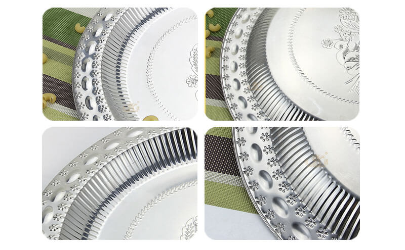 metal serving tray OEM kitchen platewholesale