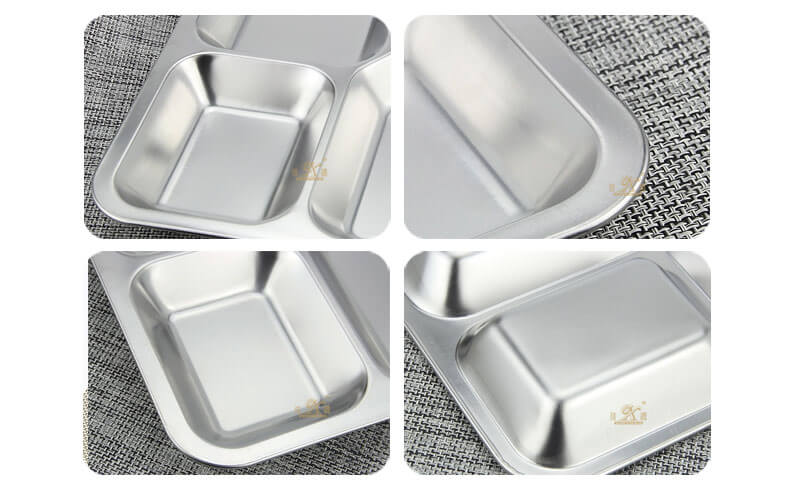 school lunch tray OEM plate stainless steel wholesale