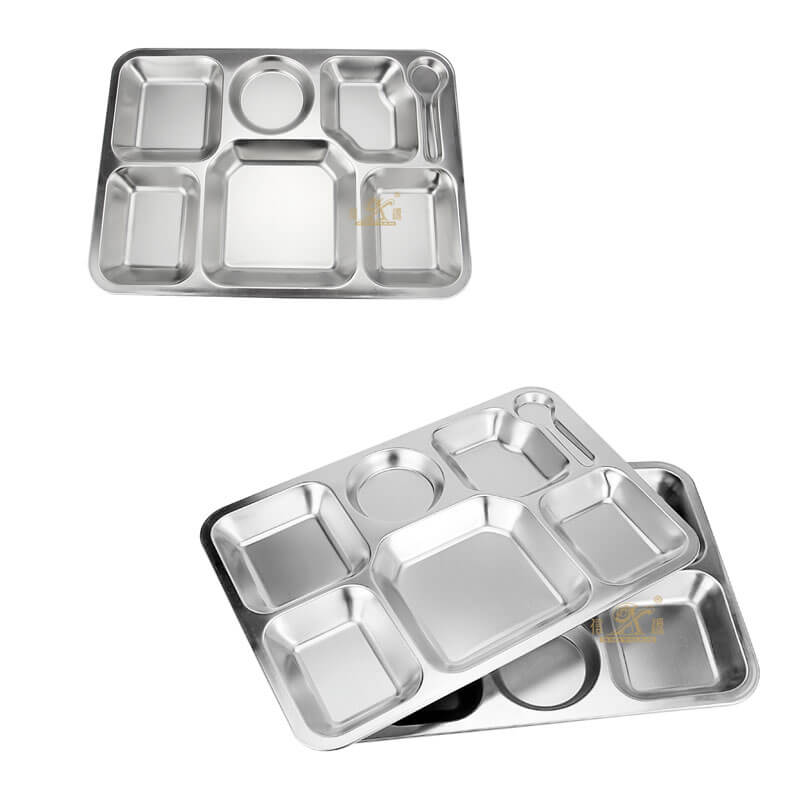 school lunch tray OEM plate stainless steel supplier