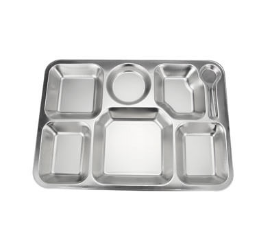 school lunch tray OEM plate stainless steel factory