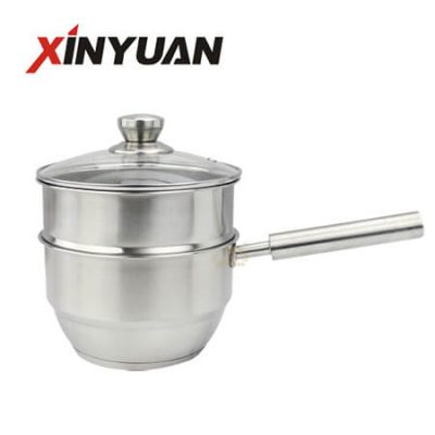 New Skillet of Multipurpose Stainless Steel 2 Layer/Tier Milk Pot 18cm FT-01621