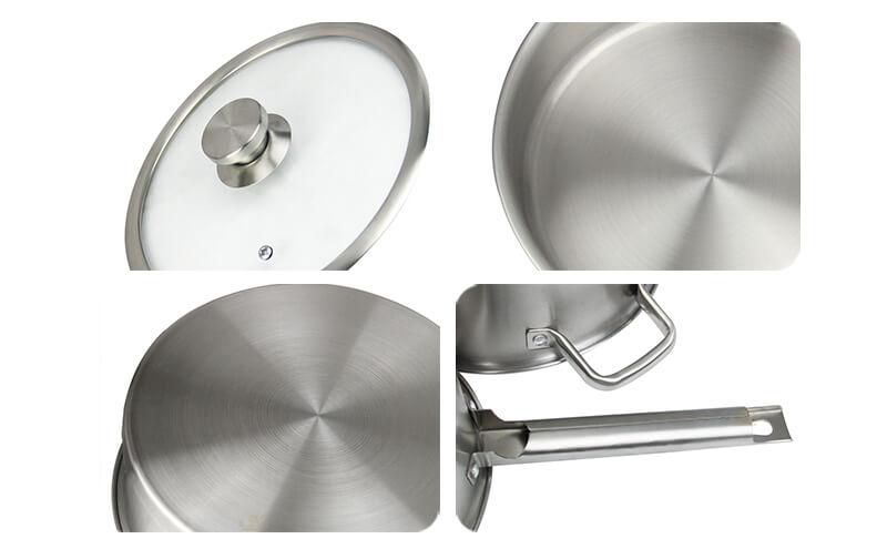 kitchen cookware 2 pcs factory stainless pot export