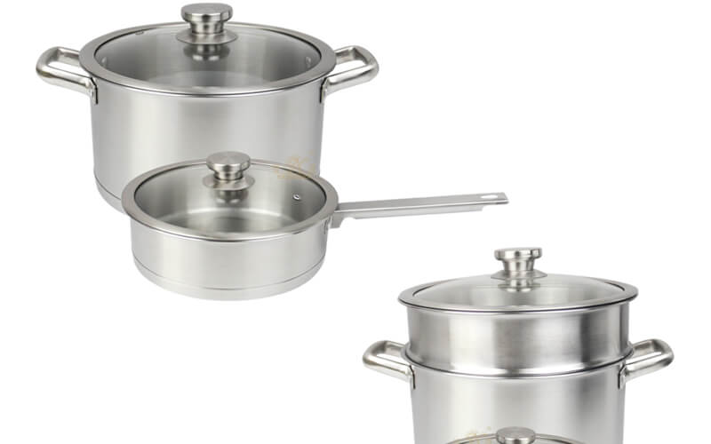 kitchen cookware 2 pcs factory stainless pot wholesale