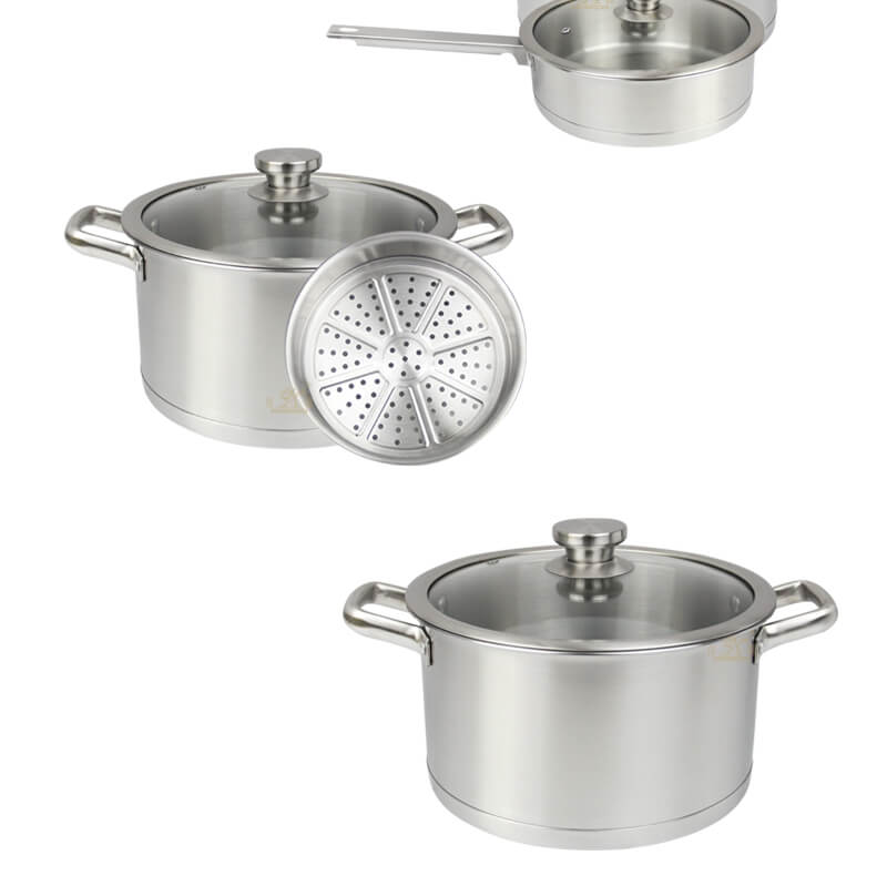 kitchen cookware 2 pcs factory stainless pot price