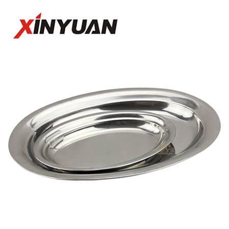 round modern tray of fine polishing perfect stainless steel