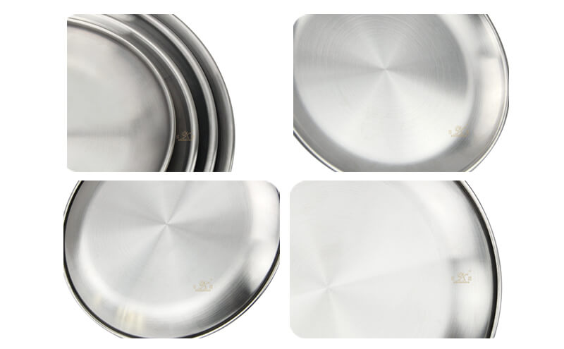 round metal tray wholesale fruit tray export