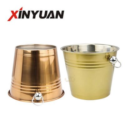 Small Metal Buckets with Good Quality Stainless Steel FT-02602-CD