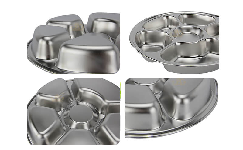 metal dishes wholesale divided serving tray import