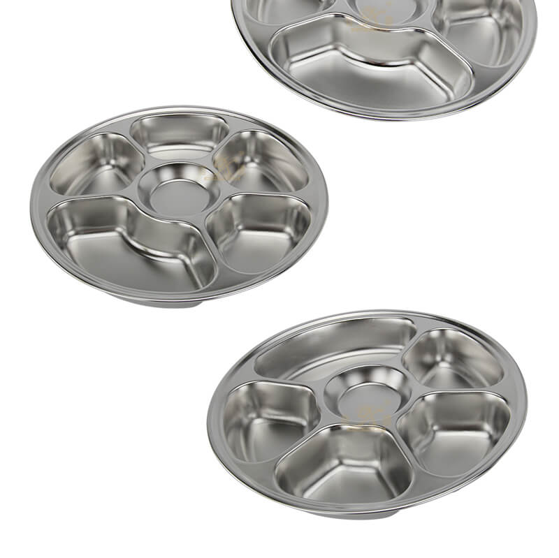 metal dishes wholesale divided serving tray price