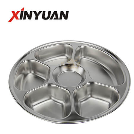 Metal dishes of stainless steel with eco-friendly compartment tray FT-00621-A