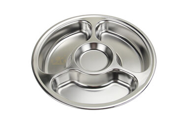lunch tray OEM circular tray import