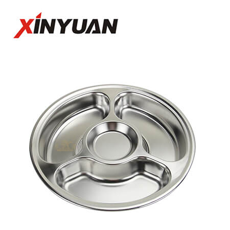 Lunch Tray Circular Tray of 4-Compartment Mess With The Cheapeast Price FT-00621-B