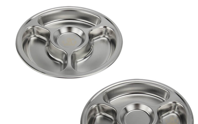 lunch tray OEM circular tray export