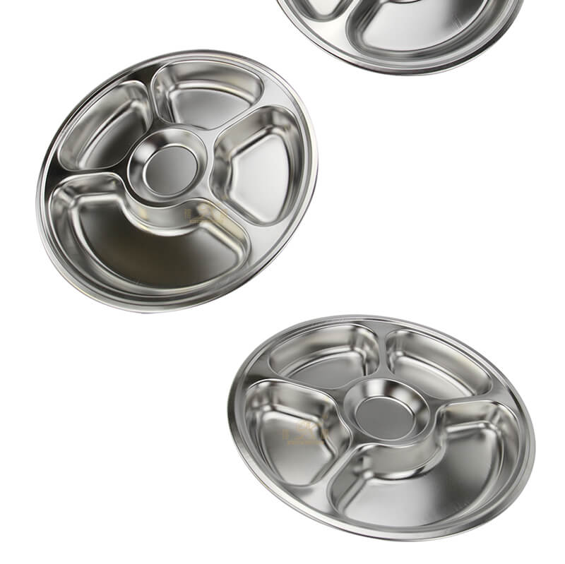 stainless food tray wholesale divided serving tray manufacturer