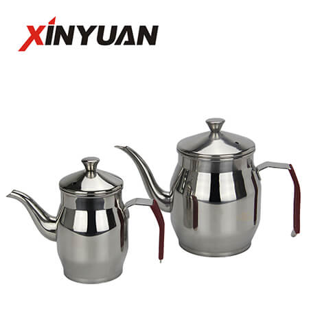 Tea and Kettle of New Design Stainless Steel Straight Shape Body FT-01413