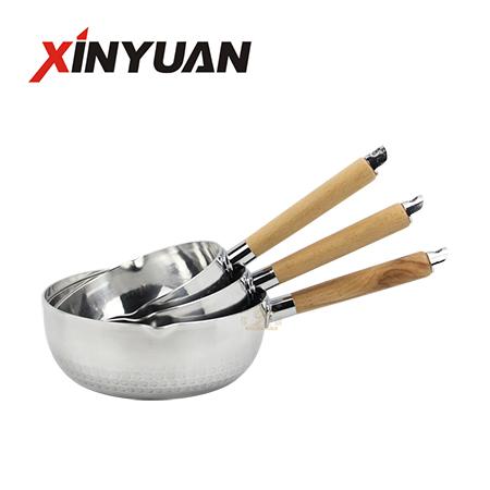 pot induction cooker of ODM factory custom logo stainless steel Korean milk pot supplier