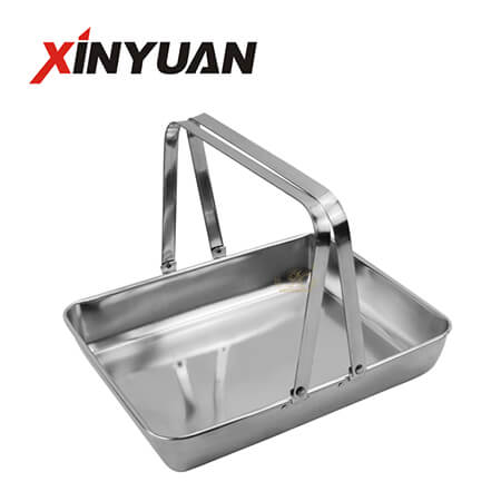double handle tray for steel hotels and restaurants