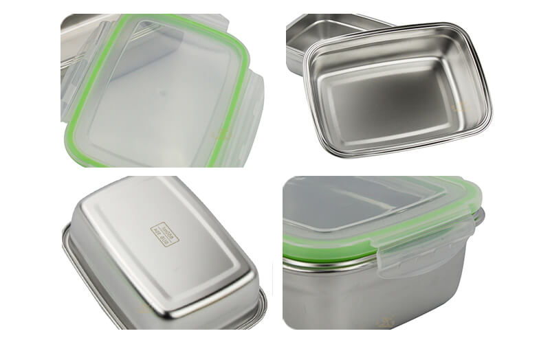 food steel pan containers supplier stainless lunch box ODM
