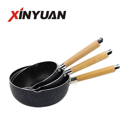 single handle pot of stainless steel maifan stone korean non stick pan of factory hot sale