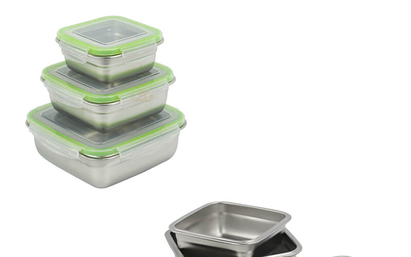 quare stainless steel lunch box odm